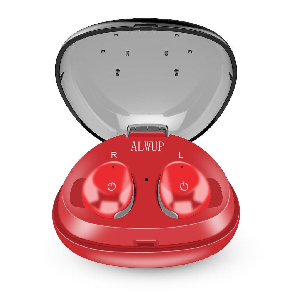 ALWUP TWS mini Fone De Ouvido Bluetooth Verdadeiro Fone de Ouvido para Celular com microfone Fones de Ouvido Bluetooth Estéreo Sem Fio Fone de Ouvido com caixa de carga