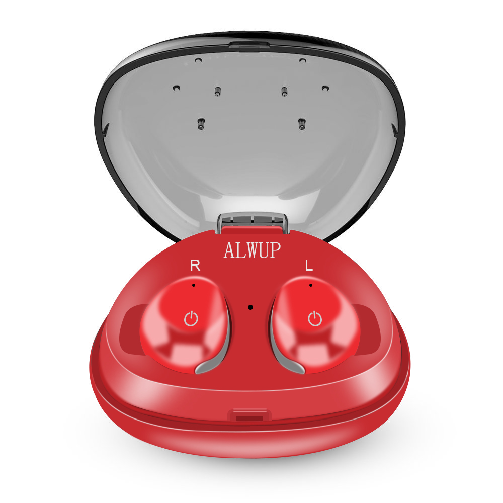 ALWUP TWS Bluetooth Écouteur mini Vrai Sans Fil Stéréo Écouteur pour Téléphone avec mic Bluetooth Écouteurs Casque avec boîte de charge