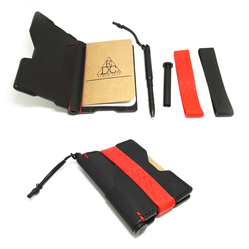 New EDC Tactical Leather Wallet Laptop Multifunctional Card Clamp Tactical Writing Pen With Multifunctional Equipment Tool Card