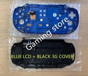 Image 2 - Oryginalny nowy dla ps vita dla ps vita psv 1000 ekran lcd montowane niebieski + tylna pokrywa czarny WIFI lub 3G wersja