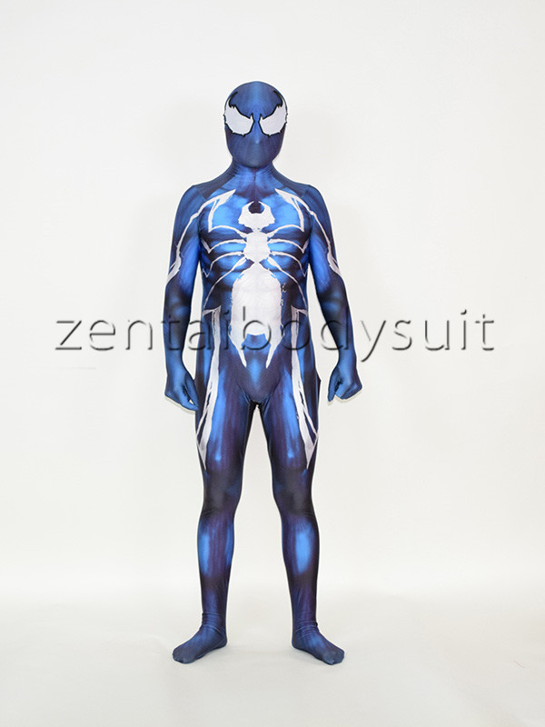 Venom Symbiote <font><b>Spider-Man</b></font> Cosplay Suit With <font><b>Muscle</b></font> Shading <font><b>Halloween</b></font> Party Spiderman <font><b>Costume</b></font>