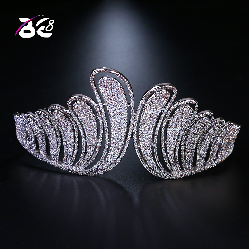 Be 8 New Hair Accessories Jewelry Wedding Crown Bridal Tiaras and Crowns Cubic Zirconia White Color Hair Crown for Women H080 high quality bridal tiaras and crowns full cubic zirconia gold color wedding hair crown for women hair jewelry accessories