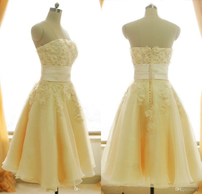 Popular Champagne Colored Short Wedding Dresses Buy Cheap
