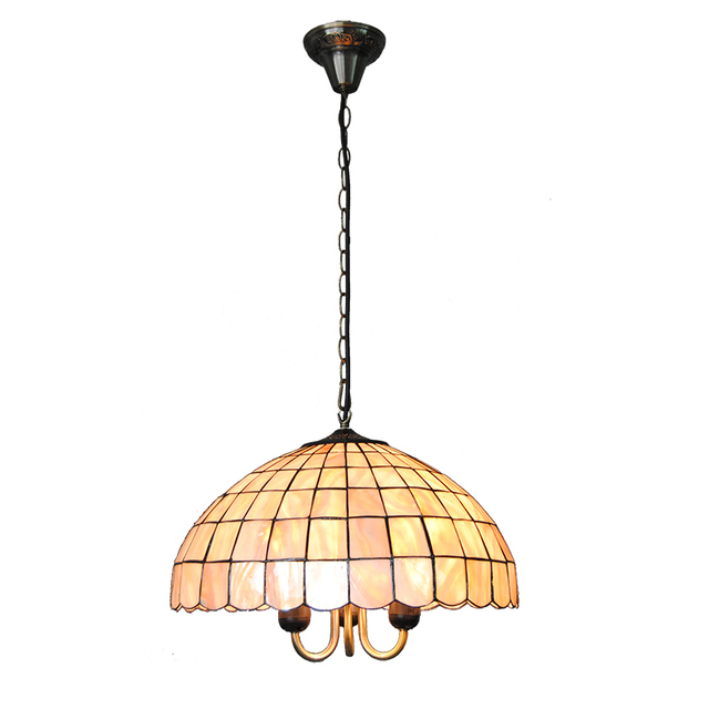 New 16 Simple Tiffany Hanging Light Creative Retro Stained Shell Lampshade Tiffanylamp For Living Room Lighting Fixtures Pl811