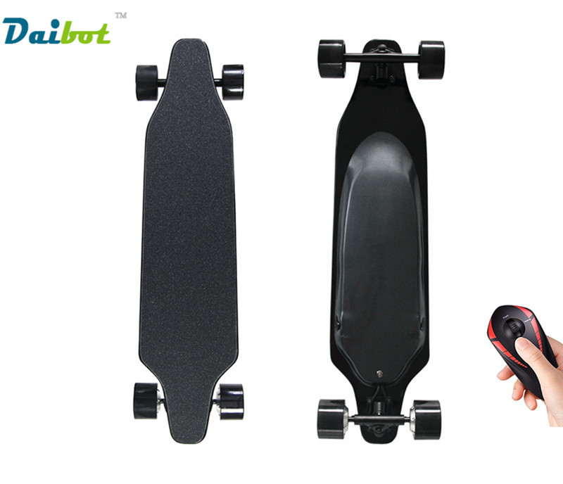 Electric longboard dual hub motor 4 wheels hoverboard skateboard scooter 500W with Bluetooth control 4 wheel electric skateboard single driver motor small fish plate wireless remote control longboard waveboard 15km h 120kg