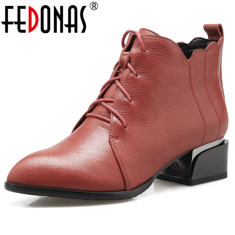 FEDONAS 1Fashion Women Ankle Boots Autumn Winter Warm High Heels Shoes Woman Round Toe Zipper Elegant Quality Brand Basic Boots 2018 new arrival genuine leather zipper runway autumn winter boots round toe high heels keep warm elegant women ankle boots l29