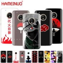 HAMEINUO Аниме Наруто минималистский случае телефон Обложка для Motorola Moto X4 E4 C G6 G5 G5S G4 Z2 Z3 PLAY PLUS
