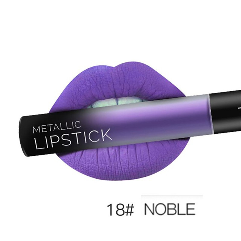 NEW 24 Colors Long Lasting Metallic Lip Gloss Red Velvet Matte Nude Liquid Lipstick Cosmetic Lips Makeup Women Gift Maquiagem 29