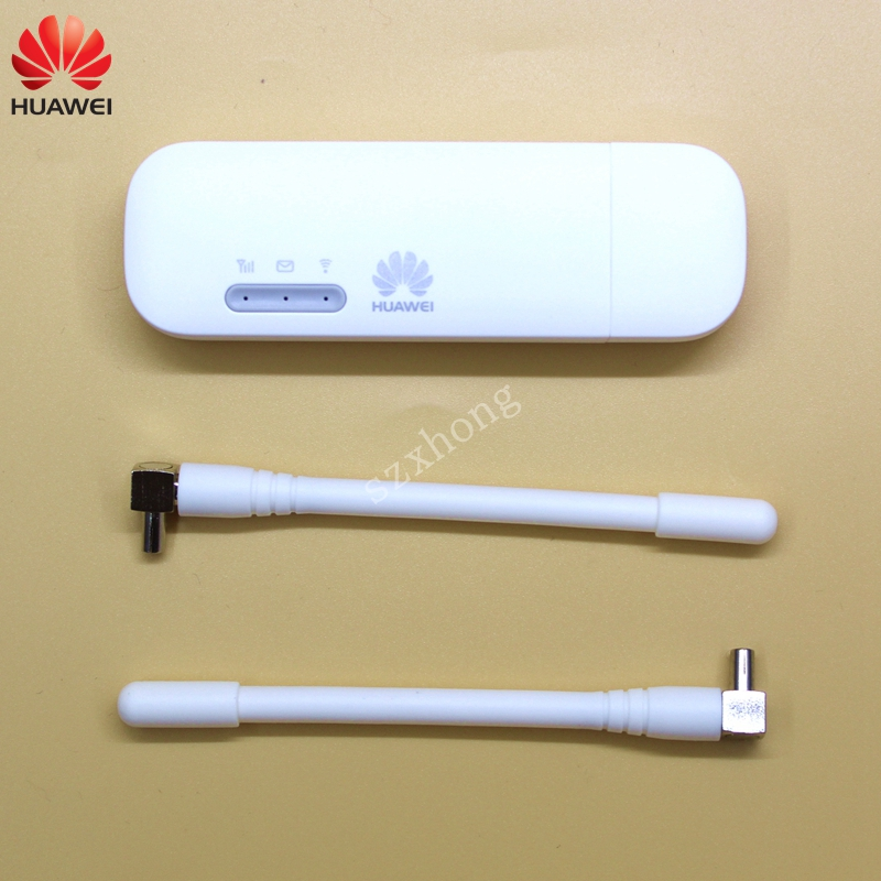 Huawei USB WIFI Modem E8372 E8372h-608 E8372h-153 4G LTE USB wifi Dongle 4G USB Modem plus une paire d'antenne 4G Carfi PK E8377