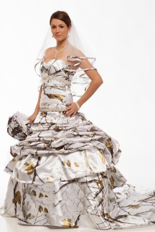 True Timber White Camo Wedding Dress Bridal Gown Vestido De Noiva 2017 New Custom Make Size 0 Free Shipping Wedding Dresses