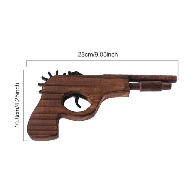 Simulation Bullet Rubber Band Launcher Wood Gun Hand Pistol Guns Shooting Toy Sports Wood Guns For Children