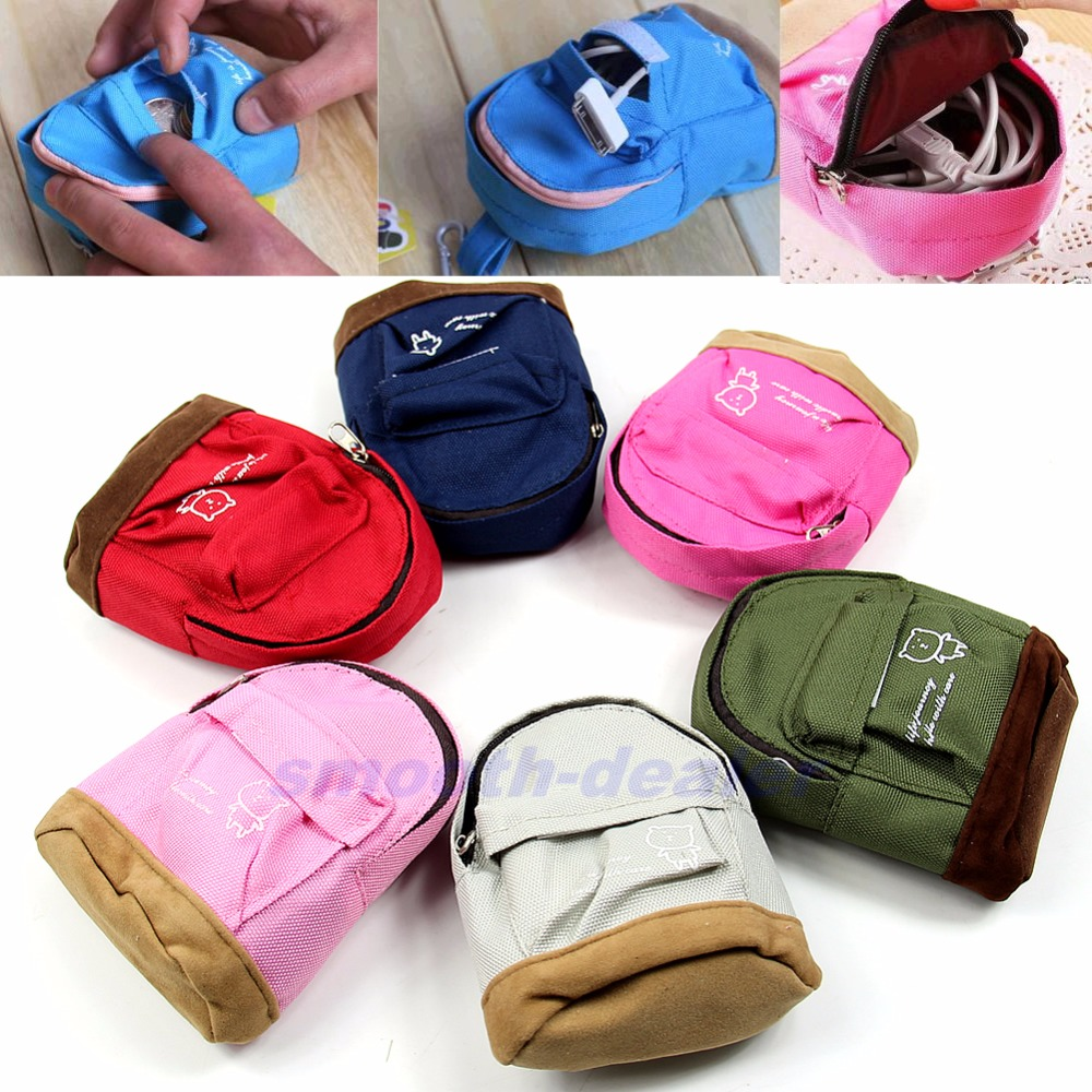 THINKTHENDO 1Pc Fashion Portable Backpack Coin Bag Wallet Hand Pouch Purse for Women Lady Men Gift