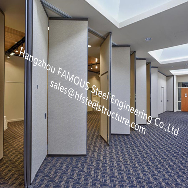 PVC Panel-folding Doors Decorative Wall Soundproof Sliding Accordion Partitions Doors For Conference Room