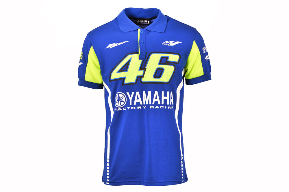 2017 New Fashion MotoGP Leisure Golf T-shirt Fit for yamaha M1 Racing Team VR46 Rossi Cotton T-Shirt Motorcycle Polo Shirt