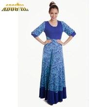 Muslim Women Dress Printing maxi jurk grote maat Women Abaya Islamic Long Dresses Pakistan National Clothes Bodycon Long Dress