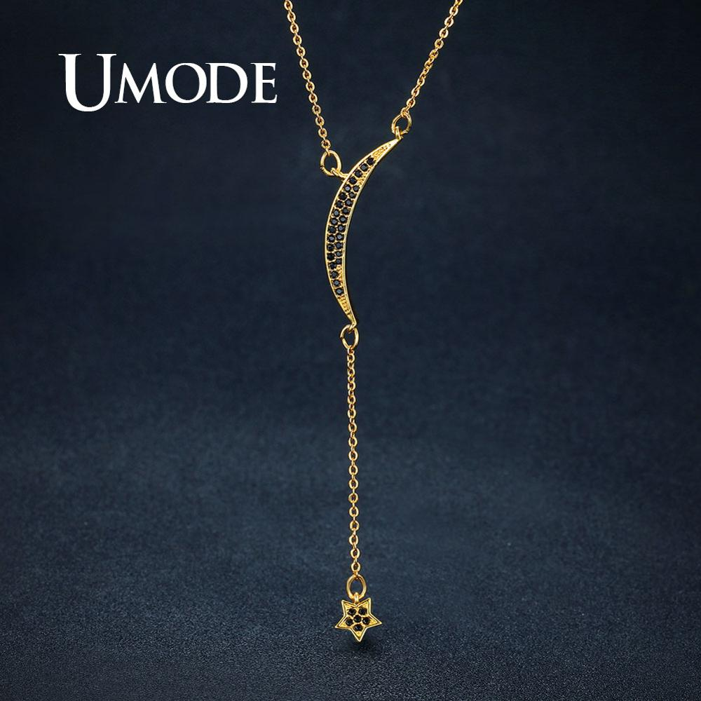 UMODE Gold Color Moon Star...