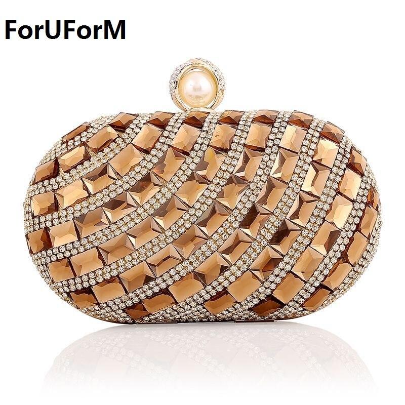 Mini diamante Bolsa de Hombro de Las Mujeres Bolsos de Embrague de Las Mujeres B