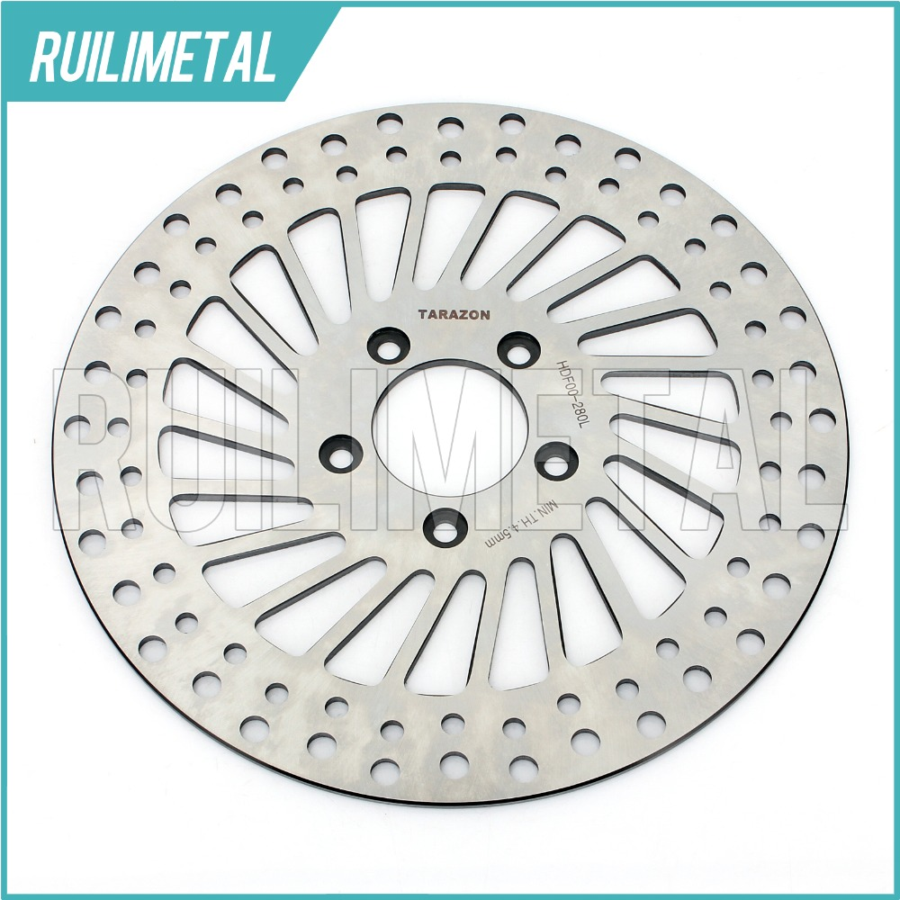Round Front Brake Disc Rotor For Sportster 883 1200 XL XLH Nightster C Custom FXD FXDL FXDWG FLST Heritage FXSTB FXSTD 00-07 06 цена и фото