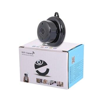 1080P HD Mini WIFI IP Cámara 180 grados ojo de pez panorámico inalámbrico inteligente hogar seguridad IR visión nocturna Monitor de bebé V380 vista