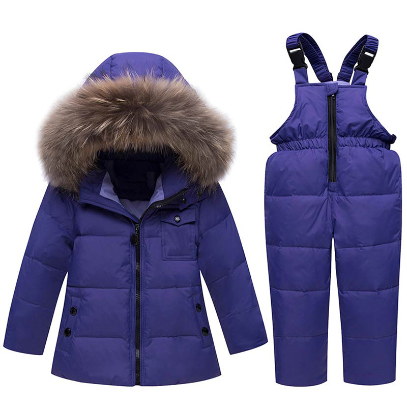 ZTOV Winter Suits for Boys Girls 2018 Boys Ski Suit Children Clothing Set Baby Duck Down Jacket Coat Overalls Warm Kids Snowsuit ztov boys girls snowsuit cute cartoon warm thick baby boy winter coat kid girls down jacket and pants children clothes outerwear
