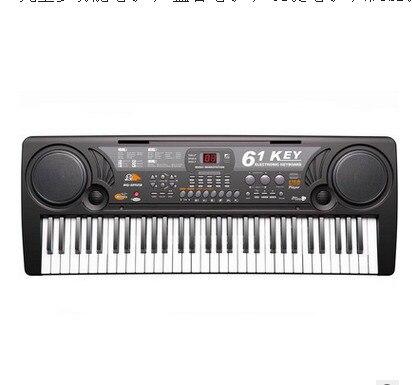 Instruments de la petite enfance 2018children piano jouets microphone rechargeable multi-fonction 61 touches clavier de musique