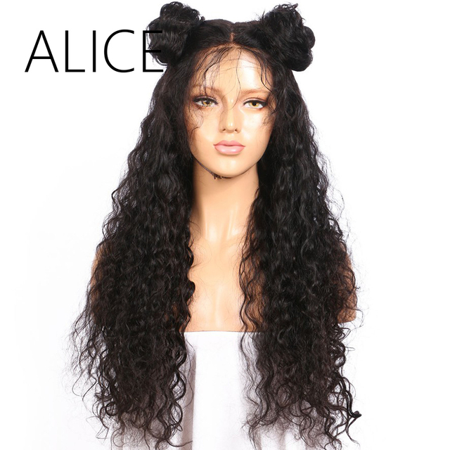 Alice Curly Full Lace Human Hair Wigs With Baby Hair Pre Plucked Full Lace Wigs 130