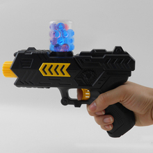 400pcs Colored Soft Bullet Gun Kids Toys Pistol Water Crystal Guns Safety Paintball Launcher Beads Grow Toy TSLM2