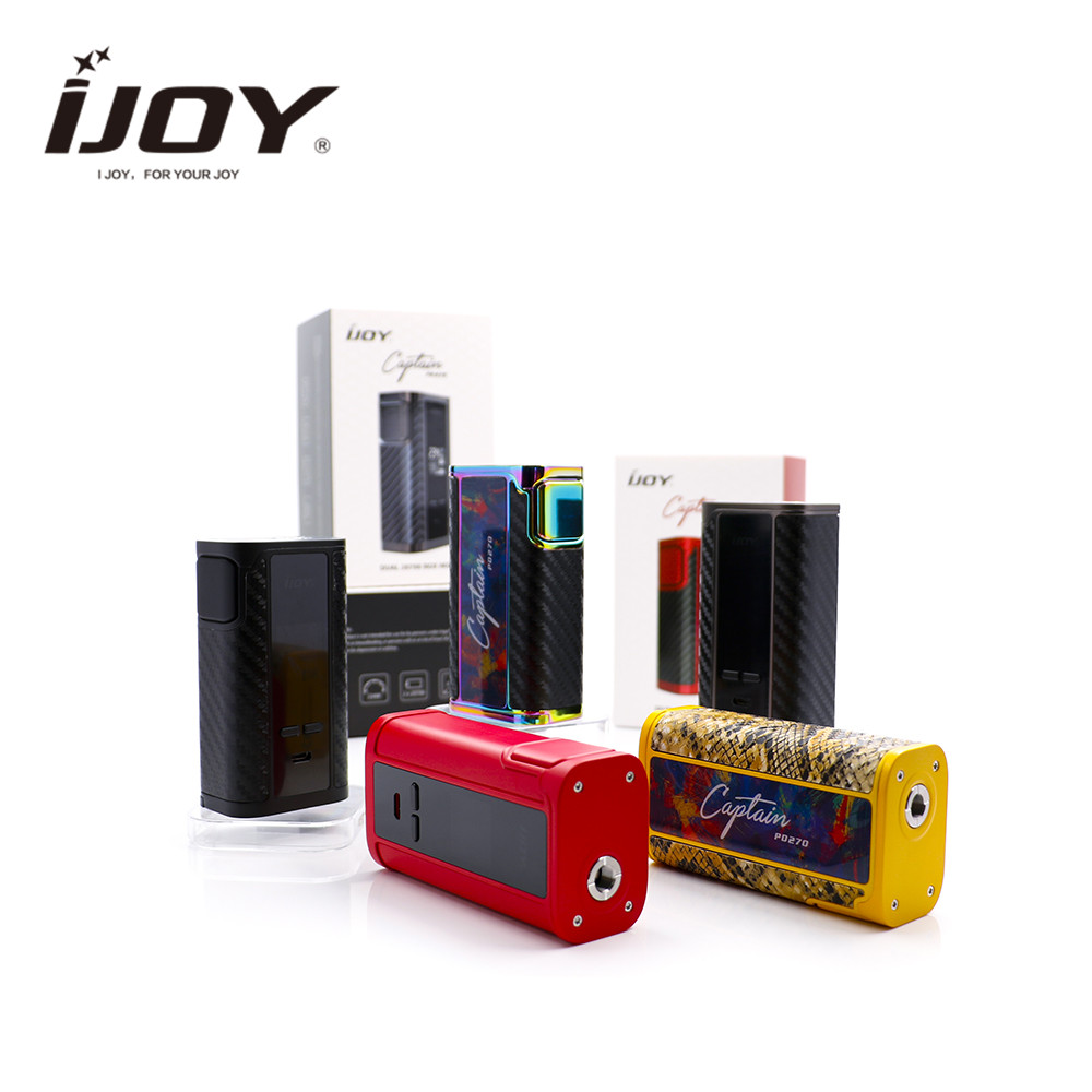 original IJOY Captain PD270 TC Box Mod with 20700 batteries and 18650 adapter support Firmwa re Upgradable for ijoy combo RDTA original ijoy captain pd270 box mod e cigarette vape 234w ni ti ss tc vapor power by dual 20700 battery new colors