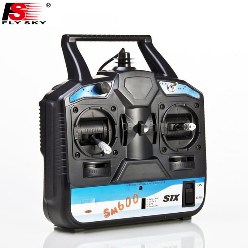 Flysky FS-SM600 6CH Rc Simulator Support G6 G7 XTR FMS For 3D Helicopter Airplane Gilder Fix-wing mode 2 image