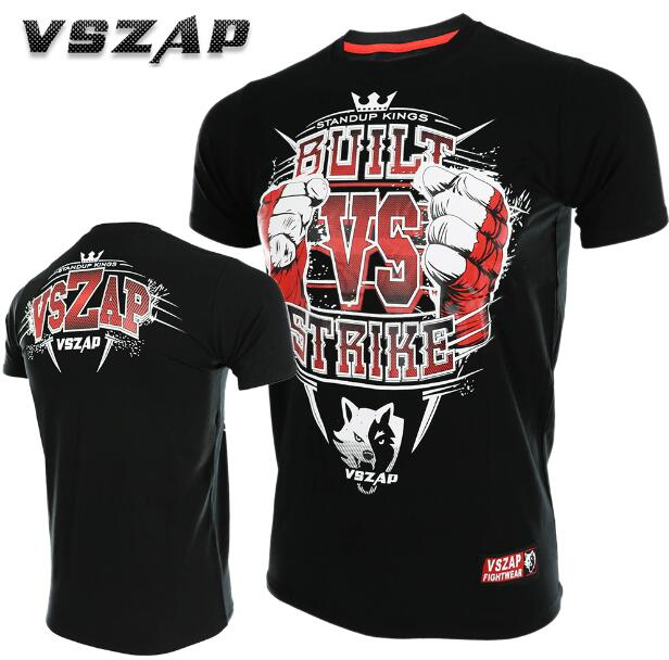 VSZAP BUILT VS STRIKE Fitness Sports Fight Short Sleeve T-shirt Thai Boxing Fight Wulin Wind.