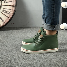 2017 fashion rainboots slip water shoes fishing boots short rubber rain boots man bot garden boots Men lightweight galoshes