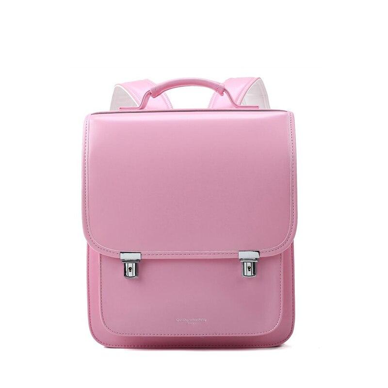 2019 nouveau japon style enfants sac d'école pour enfant sac à dos orthopédique écoliers sacs à livres PU cuir Randoseru bébé sacs