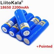 Liitokala 18650 bateria 3.7v 2200 mah, bateria li-po recarregável 18650 para carro/brinquedos/lanterna