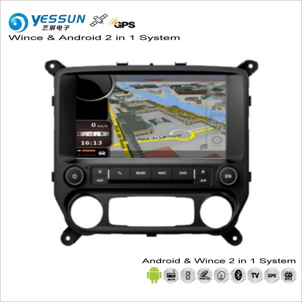 YESSUN For Chevrolet Silverado For GMC Sierra Car Android Multimedia Radio CD DVD Player GPS Navi Navigation Audio Video Stereo car stereo dvd player for gmc chevy silverado 1500 2012 gmc sierra 2011 2010 7 double din in dash touchscreen fm am radio gps