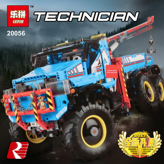 Lepin 20056 1912Pcs Technic Series The Ultimate Terrain 6X6 Remote Control Truck Set 42070 Building Blocks Bricks Christmas Gift lepins 1912pcs technic series the ultimate all terrain 6x6 remote control truck building blocks bricks toys model figures gift