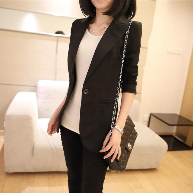 2018 autumn winter new stylish blazers for women cotton jackets lined with striped formal suit outerwear single button Jacket 4