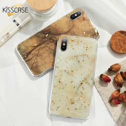 KISSCASE Case For iPhone X Case iPhone 7 8 6 6S Plus Marble Gold Foil Glue Soft Silicone Cover For iPhone 5S 5 SE 7 8 6 6S Coque 1