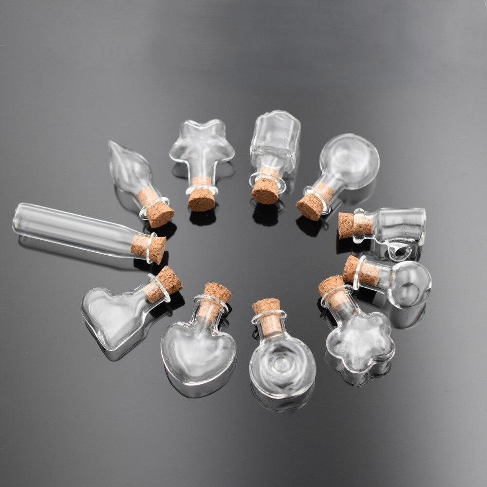 1 Stück Merk Mini Glas Flasche Anhänger Mit Kork Parfüm ätherisches öl Fläschchen Kork Flasche Charme Erkenntnisse Supply Schmuck Machen Offensichtlicher Effekt