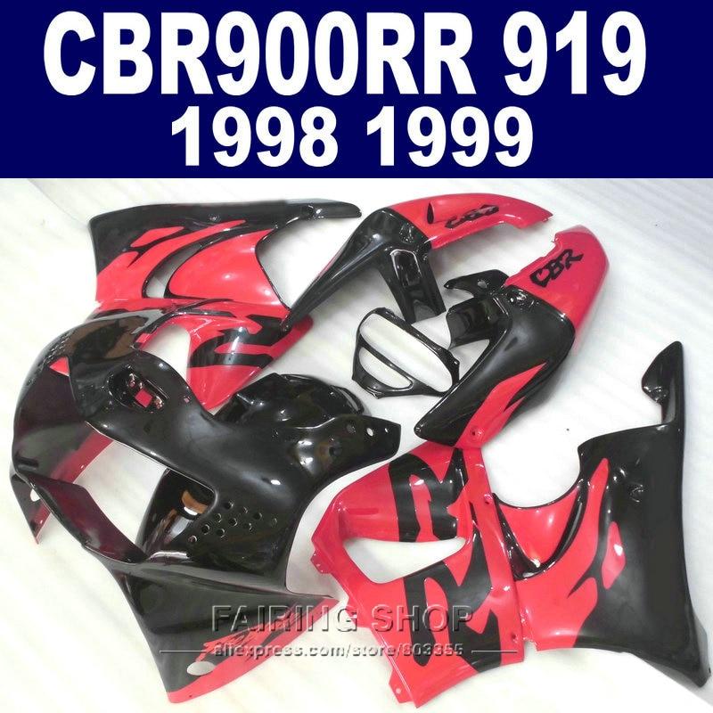 Red High quality Fairings For honda CBR900 RR 919 1998 1999 Fairing kit cbr 900rr 98
