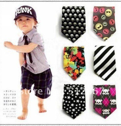 2013 Children Tie Child Necktie Boys Girls Ties Baby Scarf Neckwear Mixed 30 Styles Gifts Free Shipping 200pcs/lot