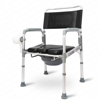 Elderly Toilet Chair Disabled toilet pregnant women chair mobile home folding bath chair