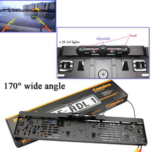 Wholesale !! New car license plate camera with IR led lights car Rear View Camera Night Vision Parking Assistance, Free Shipping