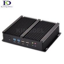 Промышленные ПК безвентиляторный мини-компьютер Core i7 4500U i3 4010U прочный ITX корпус встроен 2 * lan HDMI 6 * com Barebone крошечный ПК Windows10