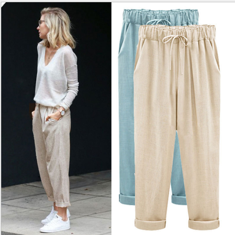 harem   pants   2018 summer women trousers   wide     leg     pants   plus size M-6XL size leggings joggers women