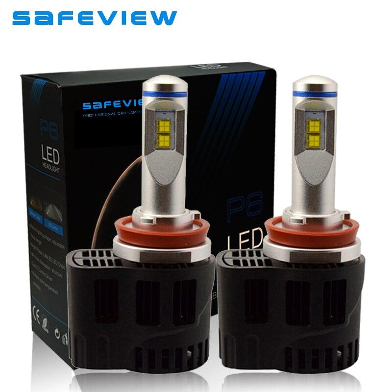 Safeview н8 Н9 Н11 светодиодные фары автомобиля лампы один луч н8 Н9 светодиодный 110 Вт датчик 10400lm 6000К ремонт, техническое освещение лампы
