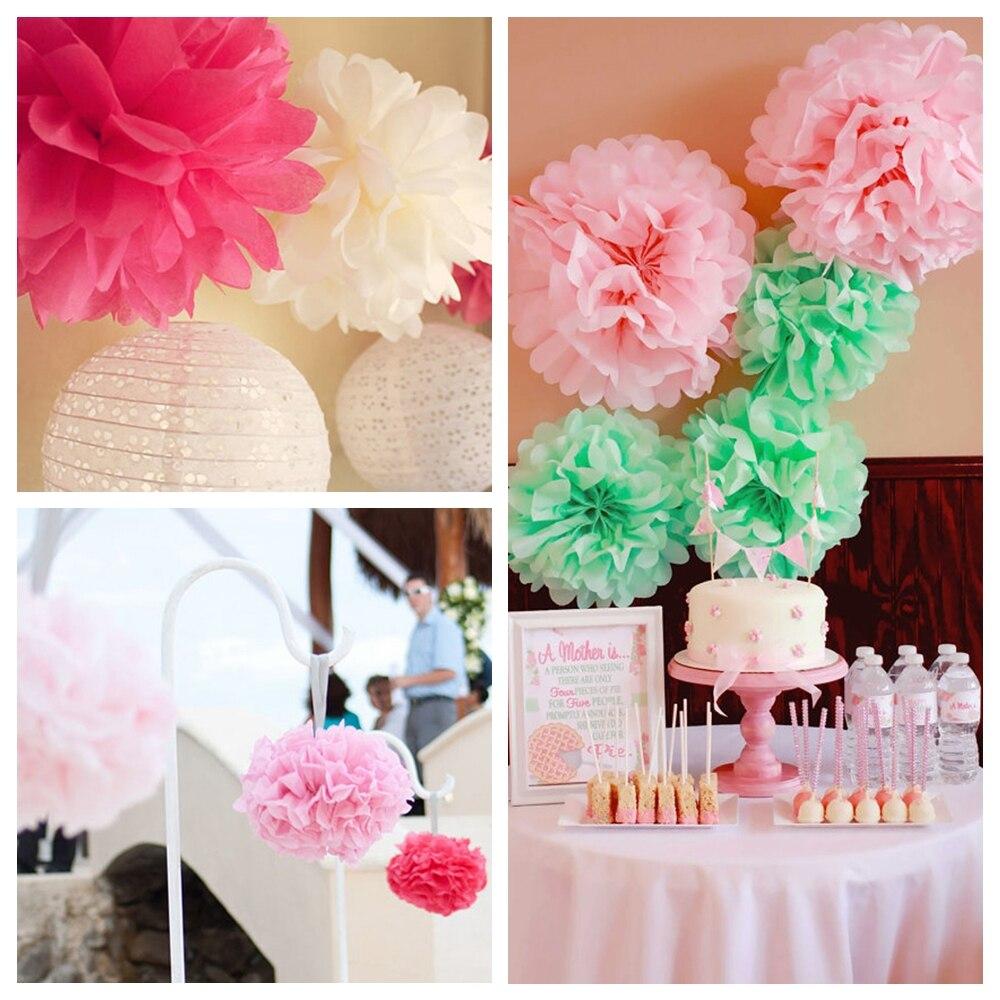 Aliexpress Buy 10pcs Party Decorations 10 Tissue Paper Pompom