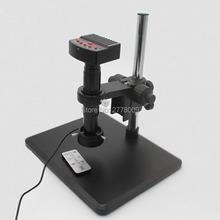 Wholesale 1080P HDMI USB Industrial Digital Microscope Camera Optical 10X-200X C-mount Lens LED Lights Fine-tune Repair Workbench