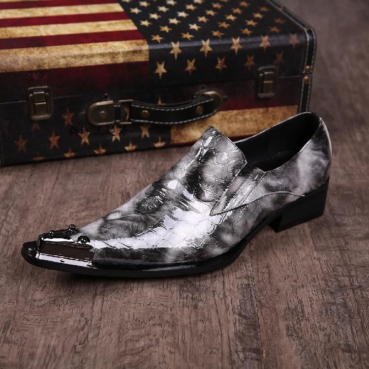 Ayakk.'ten Resmi Ayakkabılar'de En Kaliteli Erkekler Düğün Ayakkabı Yüksekliği Artan İngiliz Tarzı Hakiki deri Mens Oxfords bağcıksız ayakkabı Boyutu 39 46 Gerçek Pics'da  Grup 3