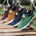 Homens marca de Sapatos Casuais Rendas Até Sapatos de Lona Homens 2015 Apartamentos Sapatos Para Homens Formadores Preto