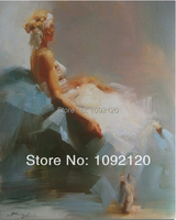 Handmade Canvas Oil Painting High Quality Pictures Of Pretty White Girls Paintings For Home Decor Picture Hang On The Wall